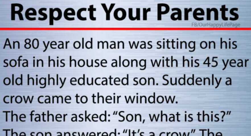 Respect Your Parents In Their Old Age Heart Touching Story